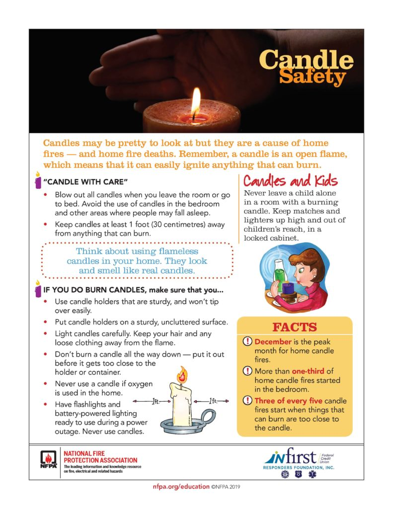 Candle safety tips to prevent fires