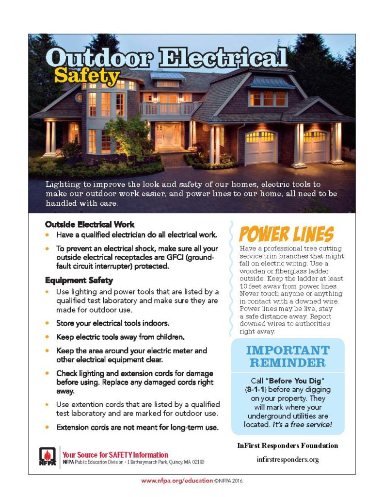 Outdoor Electrical Safety Tips for Fire Prevention