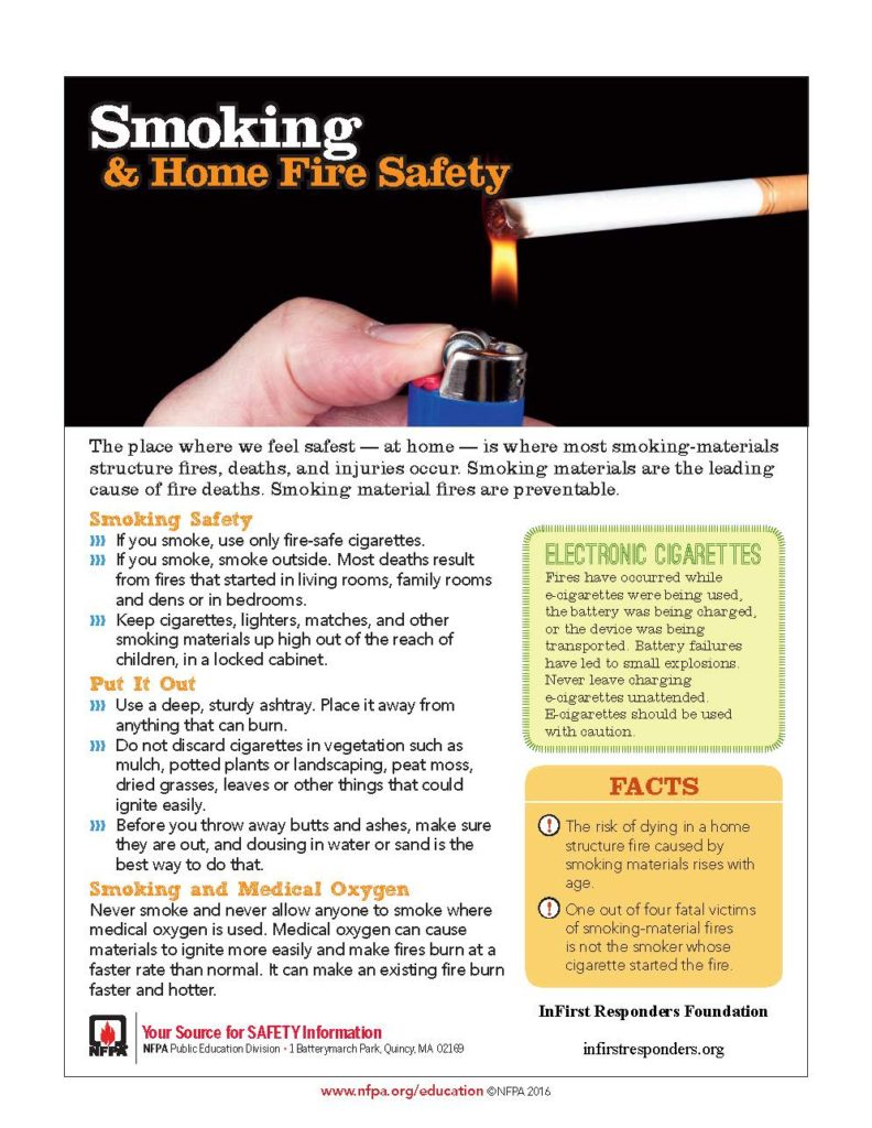 Smoking Safety Tips