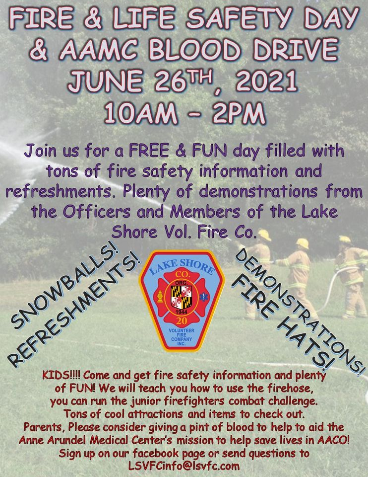 Fire and Life Safety Day and Blood Drive
